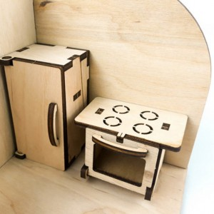фото Дерев'яний 3D конструктор Зірка 'Лялькова кімната. Кухня' (115454) #4