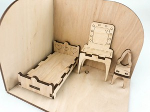 фото Дерев'яний 3D конструктор Зірка 'Лялькова кімната. Спальня' (115455) #4