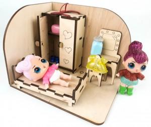 фото Дерев'яний 3D конструктор Зірка 'Лялькова кімната. Спальня' (115455) #3