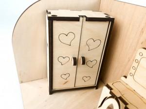 фото Дерев'яний 3D конструктор Зірка 'Лялькова кімната. Спальня' (115455) #5