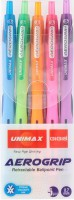Набор шариковых ручек Unimax Aerogrip-3, 5 цветов (UX-140-20)