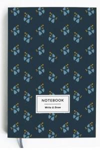 Блокнот Gifty 'Write&Draw Blue flowers' 19х13 см (5858)