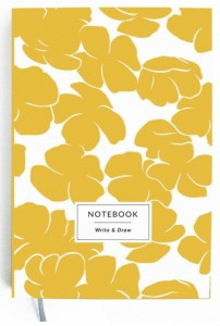 Блокнот Gifty 'Write&Draw Yellow flowers' 16х9,5 см (5869)