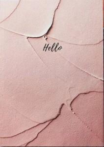 Книга Блокнот в точку. Hello. розовый