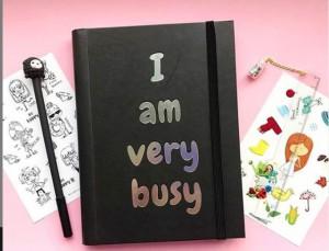 Подарок Планер 'I am very busy' black