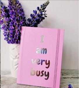 Подарок Планер 'I am very busy' pink