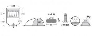 фото Палатка High Peak Kira 5 (Grey) (926275) #6