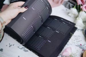фото страниц Блокнот «Tse_Tobi» з чорними сторінками (білий) + ручка #8