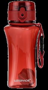 Бутылка для воды спортивная Uzspace  (350ml) красная  (6005RD)