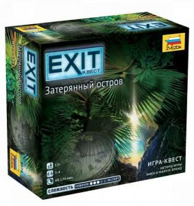Настольная игра Zvezda 'Exit Квест. Затерянный остров (на русском) (232609)