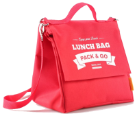 Термосумка ланч-бэг Pack&Go Lunch Bag L+ с логотипом, красный