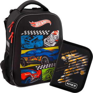 Суперкомплект для школьника 'Kite Education Hot Wheels' (рюкзак, пенал)