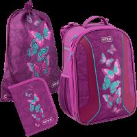 Суперкомплект для школьницы 'Kite Education Butterflies' (рюкзак, сумка, пенал)