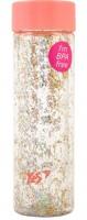 Подарок Бутылка для воды YES c блестками 'Shine', 570мл, крышка персикового цвета (707005)