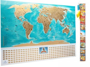 Подарок Скретч-карта мира My Map Flags edition