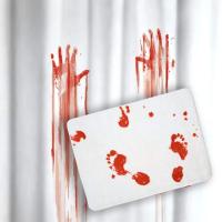 Подарок Шторка и коврик для ванной 'Фильм ужасов' (суперкомплект)
