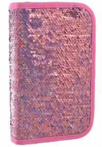 Пенал твердый  YES  одинарный без клапана 'Sequins', розовый (532421)
