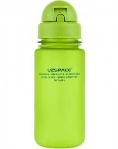 фото Бутылка для воды спортивная Uzspace (400ml) зеленая (3024GN) #2