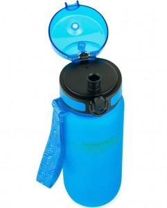 фото Бутылка для воды спортивная Uzspace матовая/голубая 3037 650ml Blue #3