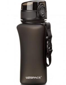 фото Бутылка для воды спортивная Uzspace  (350ml) черная (6007BK) #3