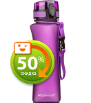Бутылка для воды спортивная Uzspace  (500ml) фиолетовый (6008PL)