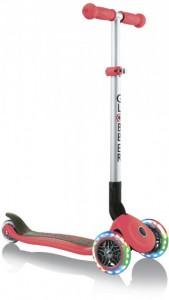 Самокат Globber Primo Foldable Lights колеса с подсветкой до 50 кг 3+ 3 колеса Красный (4897070184886)