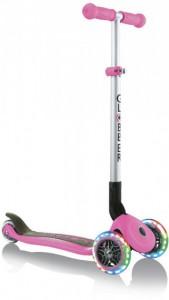 Самокат Globber Primo Foldable Lights колеса с подсветкой до 50 кг 3+ 3 колеса Розовый  (4897070184909)