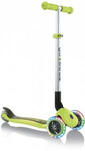 Самокат Globber Primo Foldable Lights колеса с подсветкой до 50 кг 3+ 3 колеса зелёный  (4897070184893)