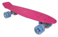 Скейтборд AWAII SK8 Vintage 22.5' со светящимися колесами, розовый, до 100кг (3429322121724)
