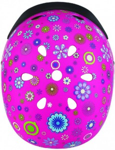 фото Шлем защитный детский Globber с фонариком Цветы розовый (507-110) (4897070184527) #5