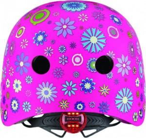 фото Шлем защитный детский Globber с фонариком Цветы розовый (507-110) (4897070184527) #4