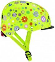 Шлем защитный детский Globber с фонариком Цветы зеленый 48-53 см (XS/S) (4897070184916)