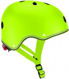 Шлем защитный детский Globber с фонариком  Зеленый 48-53 см (XS/S) (4897070184411)