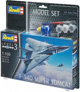 Сборная модель Revell Истребитель F-14D 'Томкэт'. Масштаб 1:100  (4009803639505)