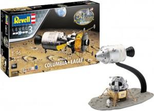 Сборная модель Revell Командный модуль Колумбия и лунный модуль Орел миссии Аполлон 11