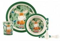 Набор для кормления Nuby бамбуковый Bamboo & Maize 5 приборов Green (5498green) (5414959032077)