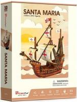 Трехмерная головоломка-конструктор CubicFun 'Santa Maria' (T4031h)