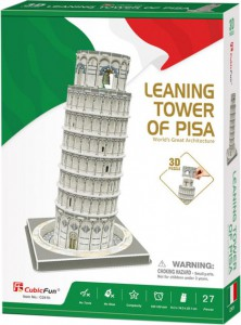 Трехмерная головоломка-конструктор CubicFun 'Leaning Tower of Pisa' (C241h)