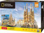 Трехмерная головоломка-конструктор CubicFun National Geographic 'Sagrada Familia' (DS0984h)