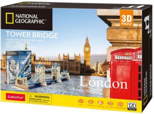 Трехмерная головоломка-конструктор CubicFun National Geographic 'Tower Bridge' (DS0978h)