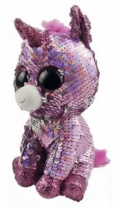 Мягкая игрушка TY Flippables Розовый единорог Sunset 25см (36782)