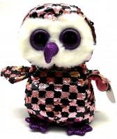 Мягкая игрушка TY Flippables Сова Checks 15см (36673)