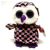 Мягкая игрушка TY Flippables Сова Checks 25см (36785)