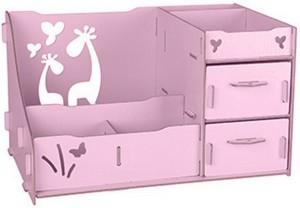 Подарок Комод настольный для косметики, украшений, фурнитуры - Розовый (103-10222042)