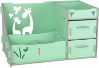Подарок Комод настольный для косметики, украшений, фурнитуры - Зеленый (103-10222044)