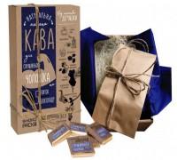 Подарок Подарочный набор Shokopack 'Для справжнього чоловіка' 100 г кофе + 5 шоколадных комплиментов (4820194870649)