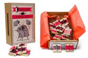 фото Шоколадный набор Shokopack Крафт-Мопс 'Я люблю тебя' 20 х 5 г (4820194870441) #4