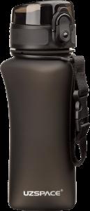 фото Бутылка для воды спортивная Uzspace  (350ml) черная (6007BK) #2