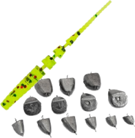 Подарок спиннингисту: набор из 5 силиконовых приманок и 5 грузголовок