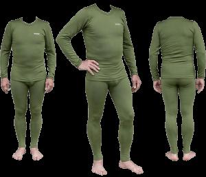 Термобелье мужское Tramp Warm Soft комплект (кофта+кальсоны) TRUM-019 S-M оливковый